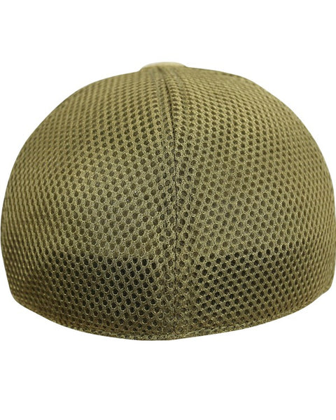 MESH operators cap-coyote brown. baseball cap with breathable mesh back and velcro