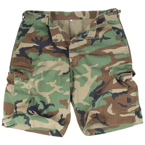 U.S style rip-stop bermuda-prewash-Woodland  Clothing Mil-Tec - The Back Alley Army Store