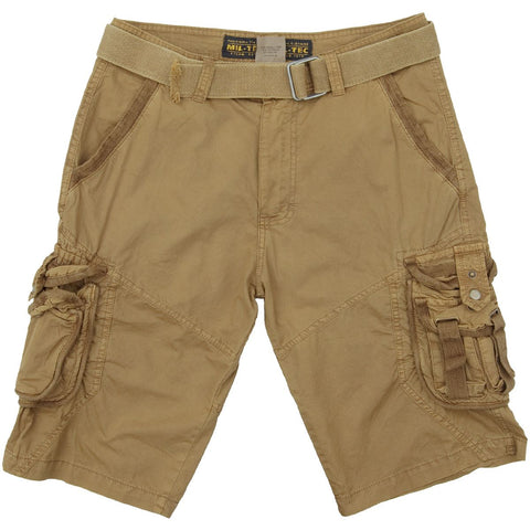 Vintage Survival shorts-Washed Coyote  Clothing Mil-Tec - The Back Alley Army Store