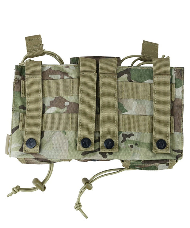 Modular fast rig-Btp camo multiple mag pouches