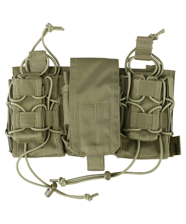 Modular fast rig-coyote brown multiple mag pouches