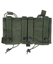 Modular fast rig-olive green multiple mag pouches rear molle fixing