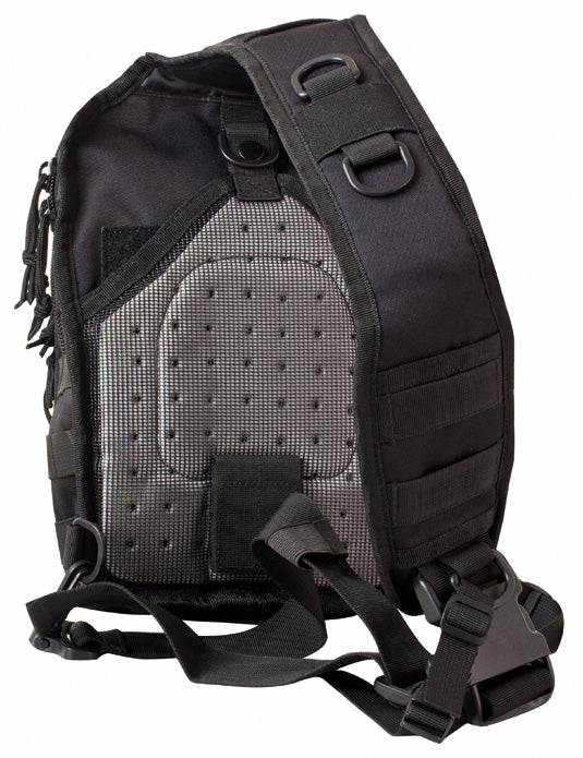 back image shows mesh airflow system and width of strap 3 inches approx