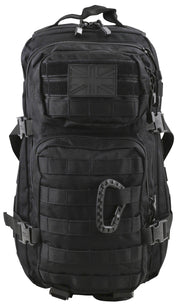 Small Molle Assault Pack 28ltr Black  Bag Kombat UK - The Back Alley Army Store