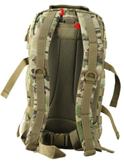 army tactical bag. mesh airflow back padding and waist strap. d-ring on straps to attach equipment