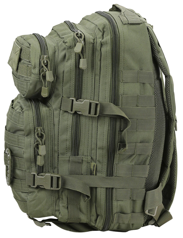 Small Molle Assault Pack 28ltr Olive  Bag Kombat UK - The Back Alley Army Store