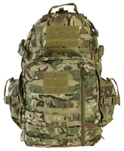 Defender Pack 60ltr-BTP. detachable helmet carrier and molle. side compression straps
