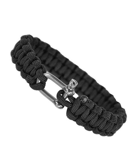 Paracord bracelet-metal closure Black / S Equipment Mil-Tec - The Back Alley Army Store