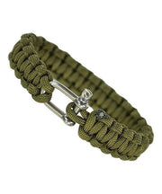 Paracord bracelet-metal closure Olive / S Equipment Mil-Tec - The Back Alley Army Store