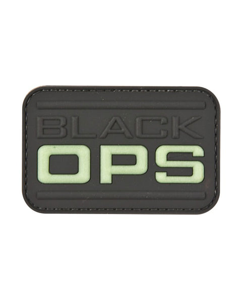 Black Ops-Tactical velcro patch  Airsoft Kombat Tactical - The Back Alley Army Store