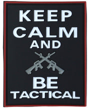 Keep calm and be tactical-Tactical velcro patch  Airsoft Kombat UK - The Back Alley Army Store