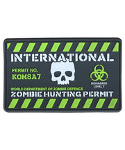 Zombie hunting permit-Tactical velcro patch