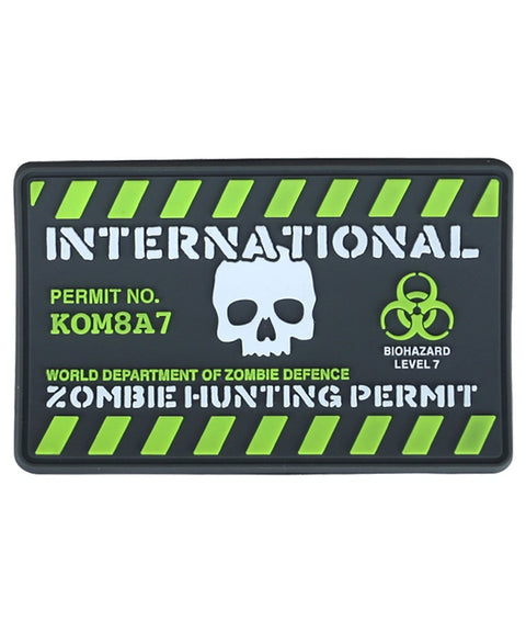 Zombie hunting permit-Tactical velcro patch  Airsoft Kombat UK - The Back Alley Army Store