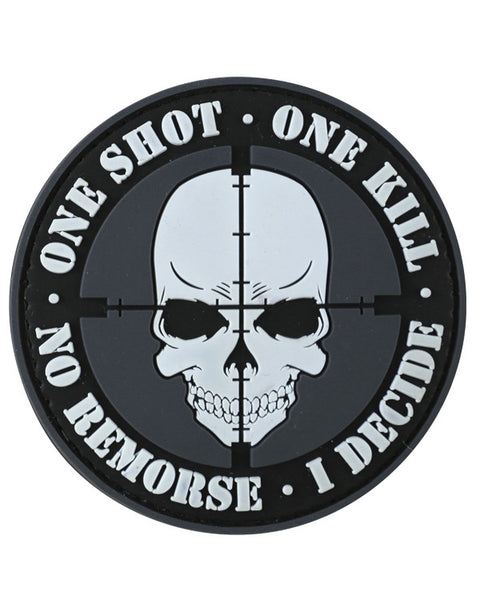 One shot,one kill-Tactical velcro patch  Airsoft Kombat UK - The Back Alley Army Store