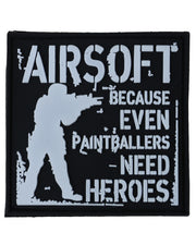Paintballers need heroes-Tactical velcro patch  Airsoft Kombat UK - The Back Alley Army Store