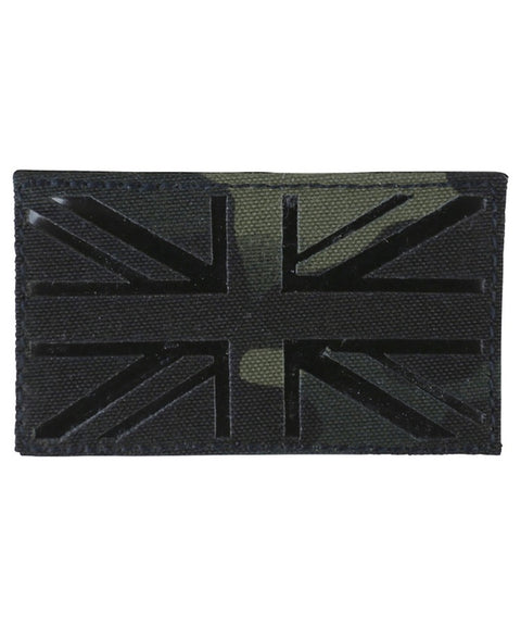 U.K Tactical velcro patch-Laser cut-BTP Black  Airsoft Kombat UK - The Back Alley Army Store