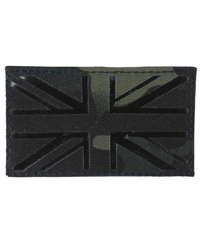 U.K Tactical velcro patch-Laser cut-BTP Black