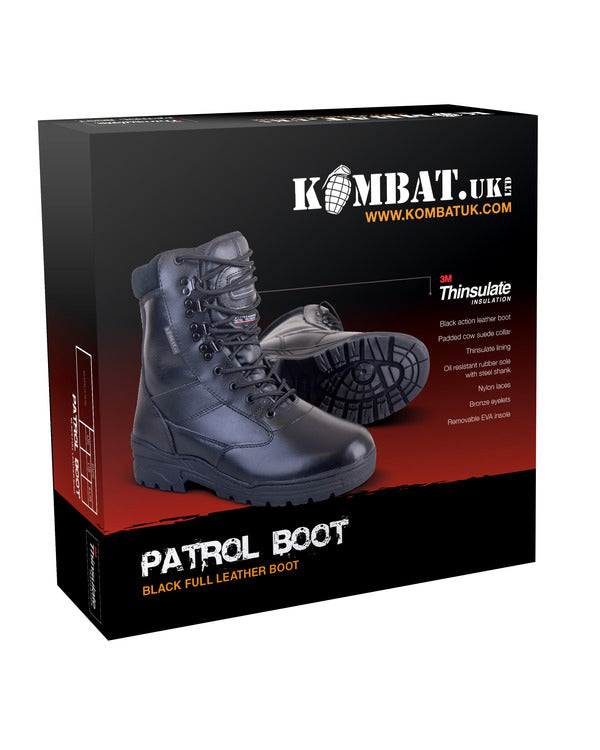 Patrol Boots-All leather-Black