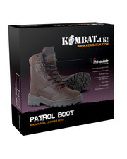 Patrol Boots-All leather-MOD Brown  footwear Kombat UK - The Back Alley Army Store