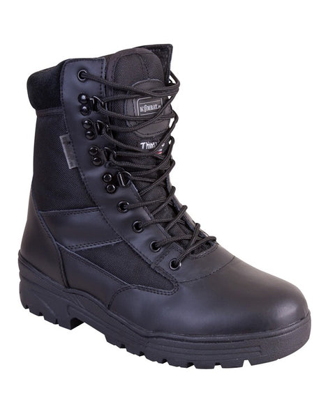 Patrol Boots-Half leather Half nylon-Black  footwear Kombat UK - The Back Alley Army Store