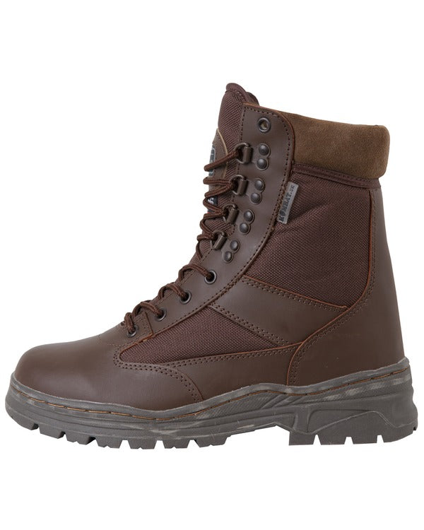 Patrol Boots-Half leather Half nylon-MOD Brown
