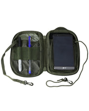 pocket buddy- olive. pocket organiser molle phone pouch