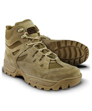 brown suede tactical boots