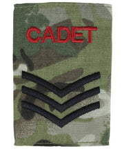 Cadet rank slide-Sergeant