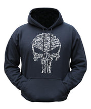 Skull/guns hoodie S / Black Clothing Kombat UK - The Back Alley Army Store
