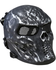Skull mesh mask - Gun Metal Grey