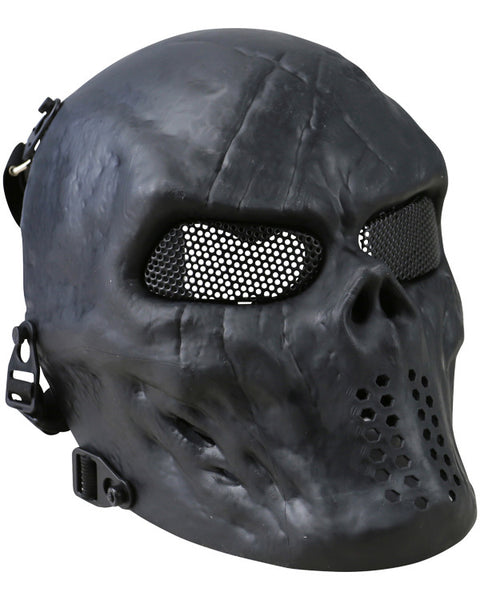 Skull mesh mask-Black  Airsoft Kombat UK - The Back Alley Army Store