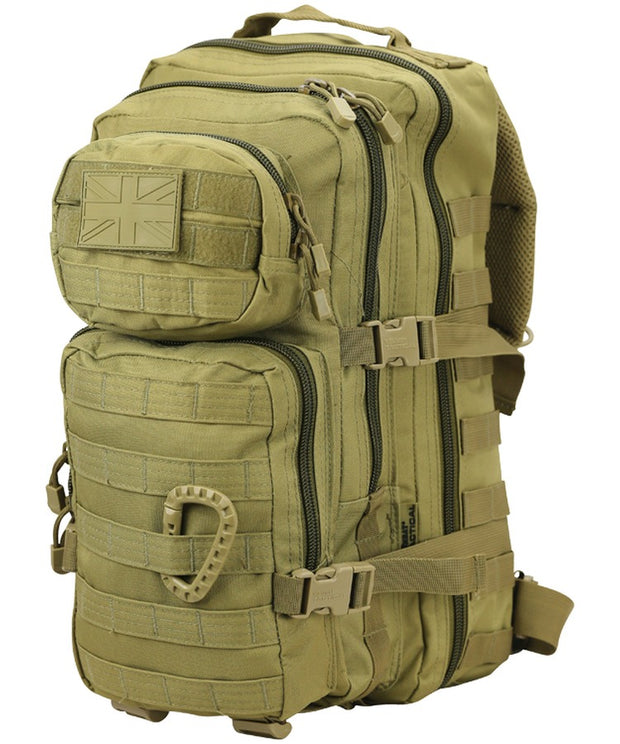 Small Molle Assault Pack 28ltr Coyote  Bag Kombat UK - The Back Alley Army Store