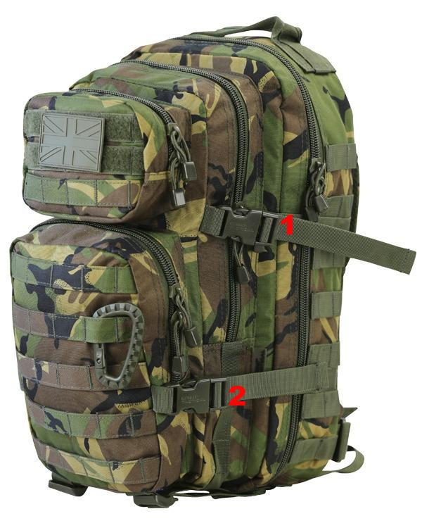 Small Molle Assault Pack 28ltr DPM