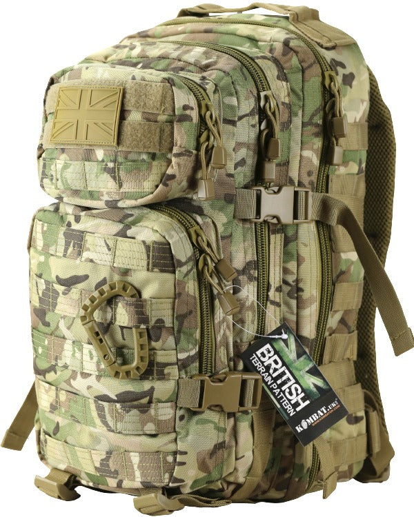 Small Molle Assault Pack 28ltr BTP  Bag Kombat UK - The Back Alley Army Store