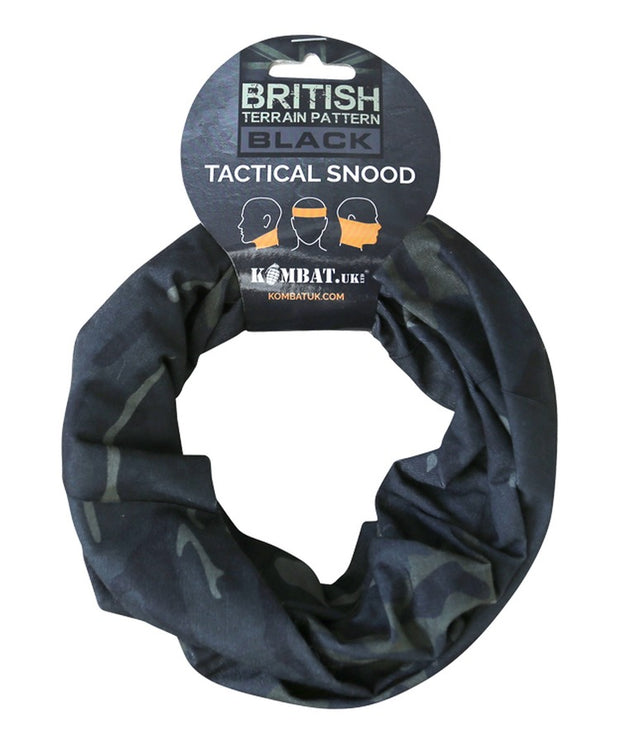 Tactical snood-BTP Black  headwear Kombat UK - The Back Alley Army Store