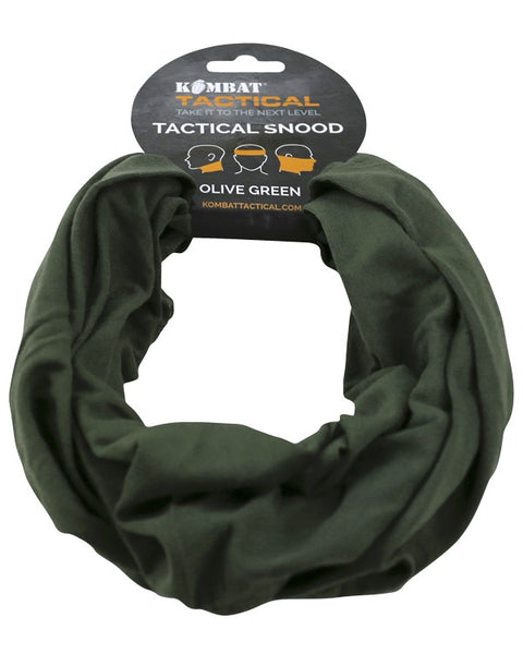 Tactical snood-Olive  headwear Kombat UK - The Back Alley Army Store