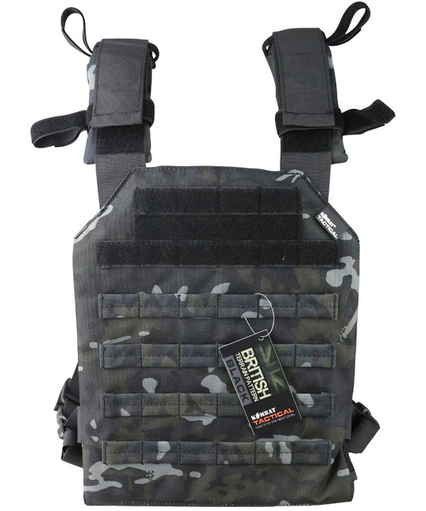 Spartan plate Carrier- Btp black british camo tactical airsoft lightweight plate carrier