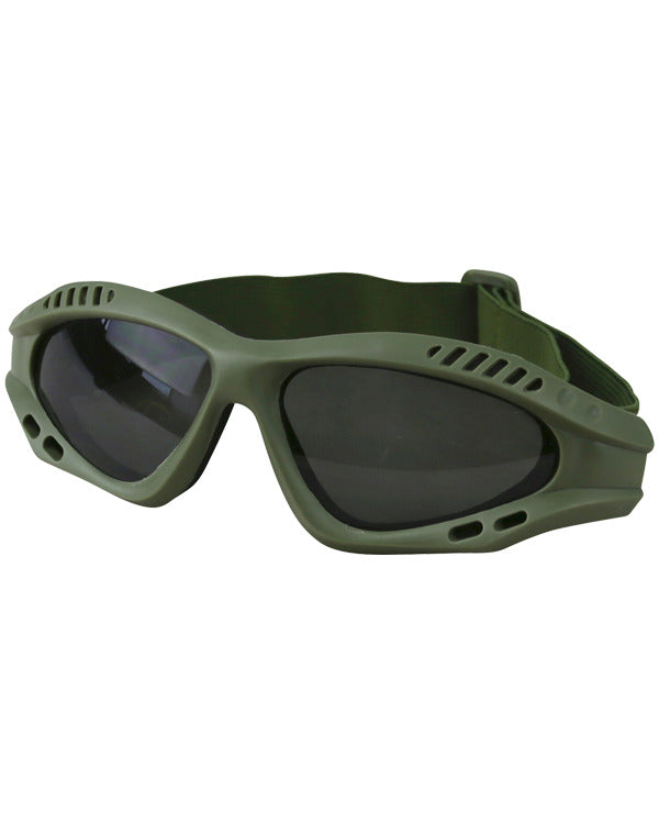 Spec-ops glasses OLIVE Airsoft Kombat UK - The Back Alley Army Store