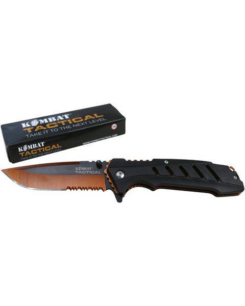 Survival lock knife  knife Kombat Tactical - The Back Alley Army Store