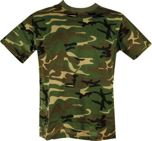 Woodland Camo T-shirt  Clothing Sourced by Back Alley - The Back Alley Army Store