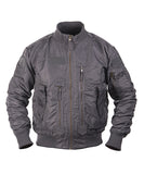 tactical flying jacket grey bomber jacket