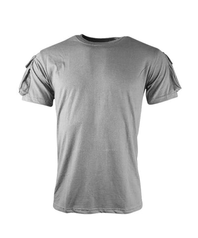 tactical t-shirt velcro sleeves grey