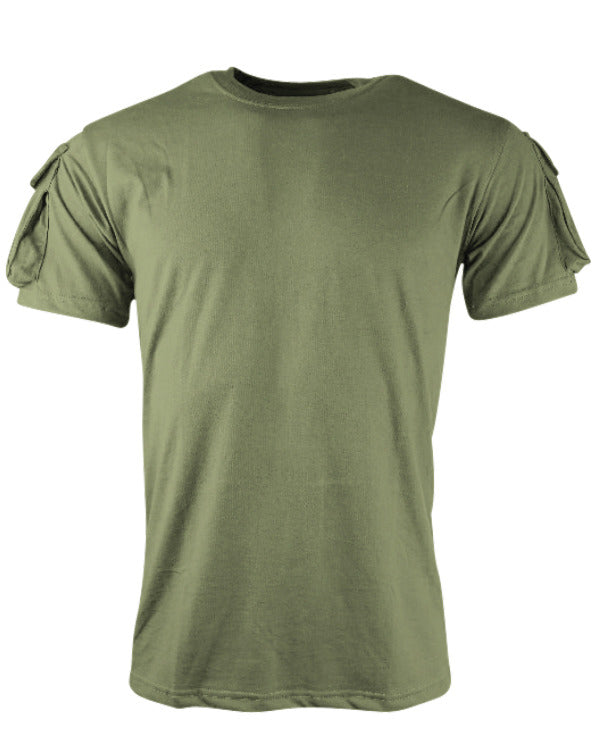Tactical t-shirt-Olive  Clothing Kombat UK - The Back Alley Army Store