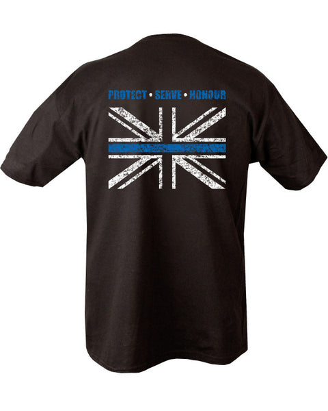 Thin BLUE line t-shirt  Clothing Kombat UK - The Back Alley Army Store