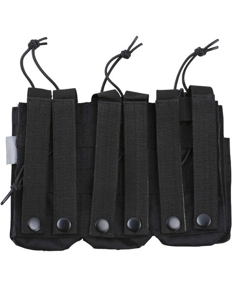 Triple duo mag pouch-Black  Airsoft Kombat UK - The Back Alley Army Store