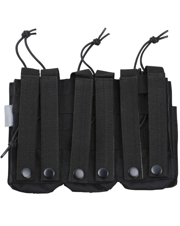 Triple duo mag pouch-Black