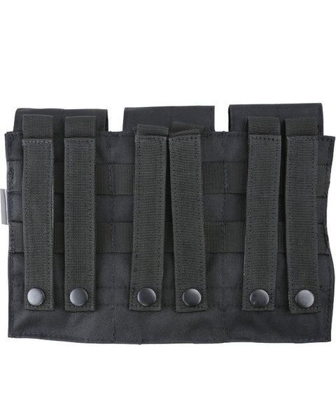 Triple ORIGINAL style mag pouch-Black   soulja military - The Back Alley Army Store