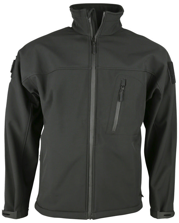 Trooper softshell sharkskin-Black