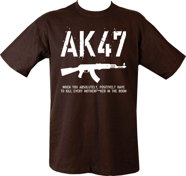 AK47 T-Shirt Black / S Clothing Kombat UK - The Back Alley Army Store
