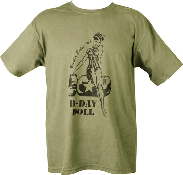 D-Day Doll T-shirt  Clothing Kombat UK - The Back Alley Army Store